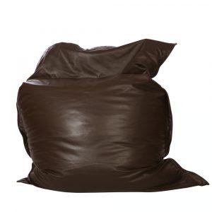 QSack Leder Sitzsack braun