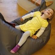 QSack Kinder Sitzsack Outdoorer grau