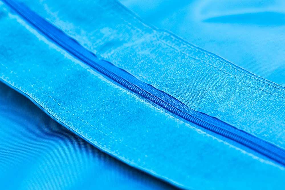 QSack Kinder-Sitzsack Reißverschluss und Klettverschluss