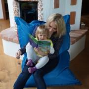 QSack Kindersitzsack Outdoorer blau