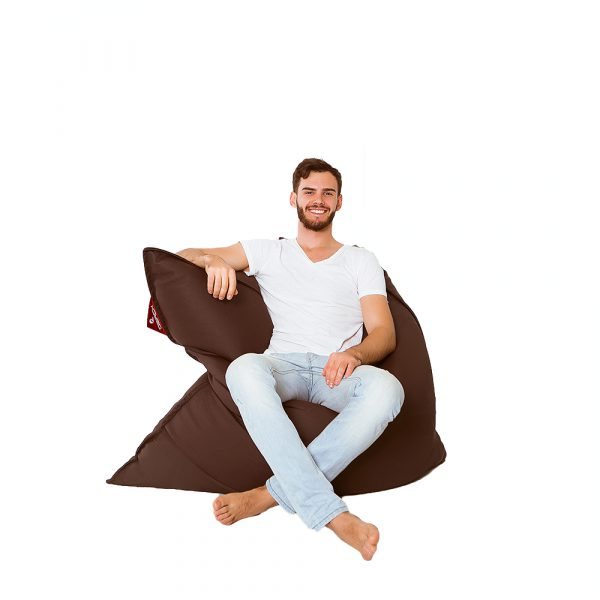 Sitzsack Kunstleder braun