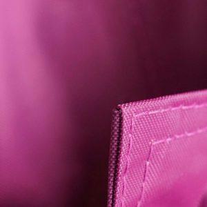 QSack Sitzsack Bezug eingeschlagene Ecke brombeer