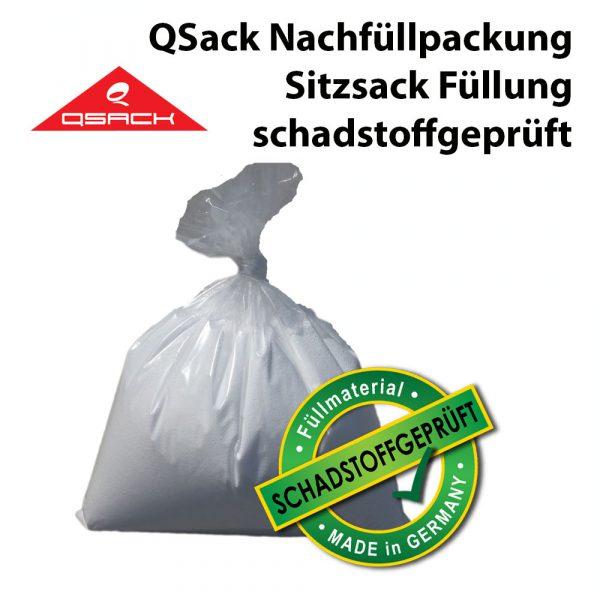 QSack Sitzsack Füllung schadstoffgeprüft