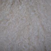 Tibet Lammfell Haare weiß