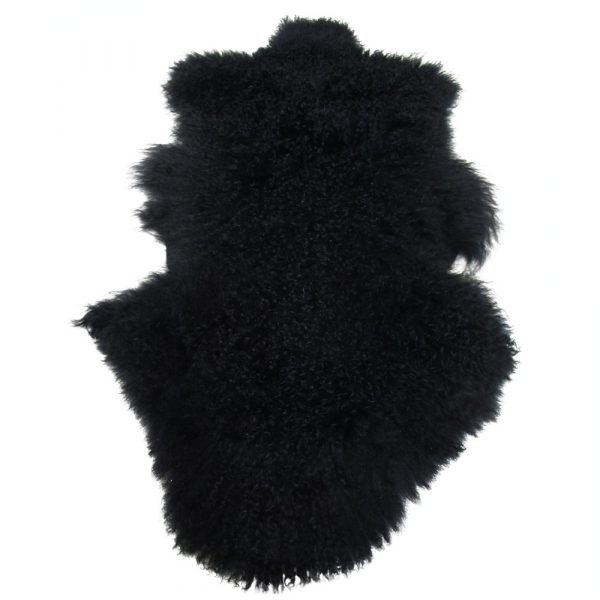 Tibet Lammfell schwarz