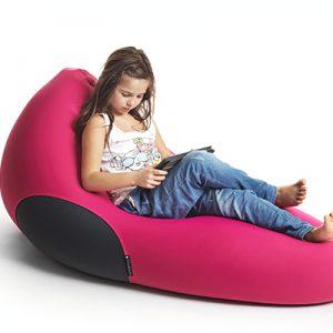 X Pouf X-Shark Indoor Sitzsack pink