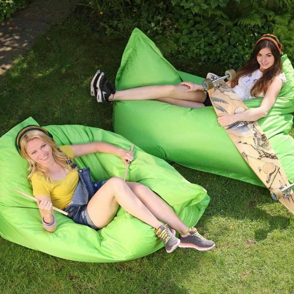 grüner-Sitzsack-Outdoor
