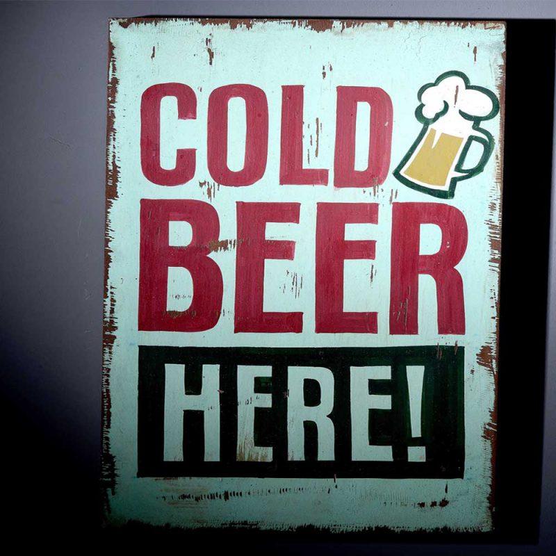 Bier Schild aus Holz