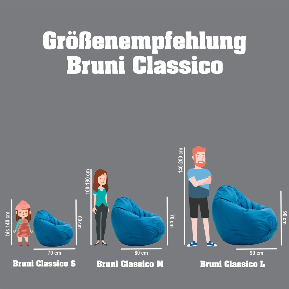 Bruni Classico Sitzsack Größe