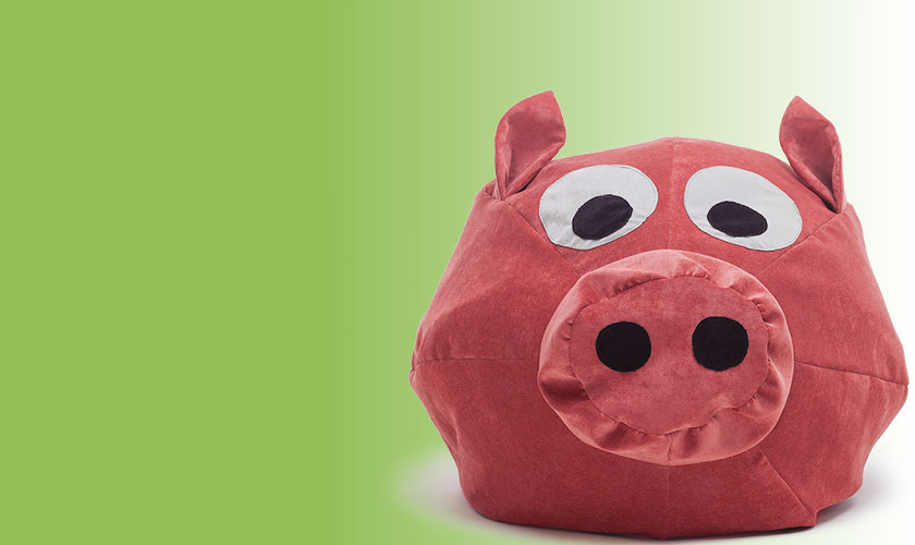 Bruni Kinder Sitzsack Schweinchen