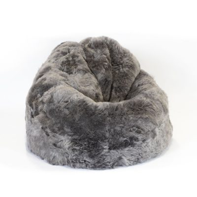 Island Lammfell Sitzsack grau