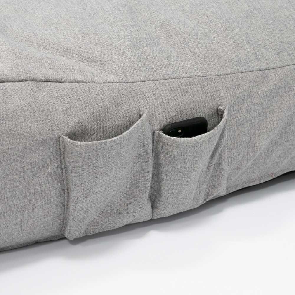 QSack Indoor Sitzsack Liege Seitentaschen