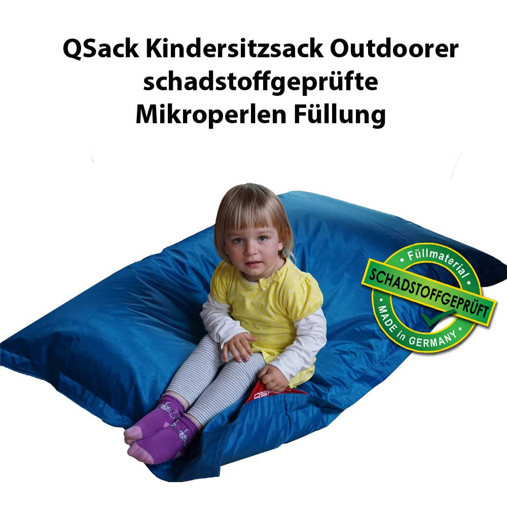 kinder sitzsack outdoor qsack outdoorer sitzsack f llung schadstoffgepr ft neu ebay. Black Bedroom Furniture Sets. Home Design Ideas