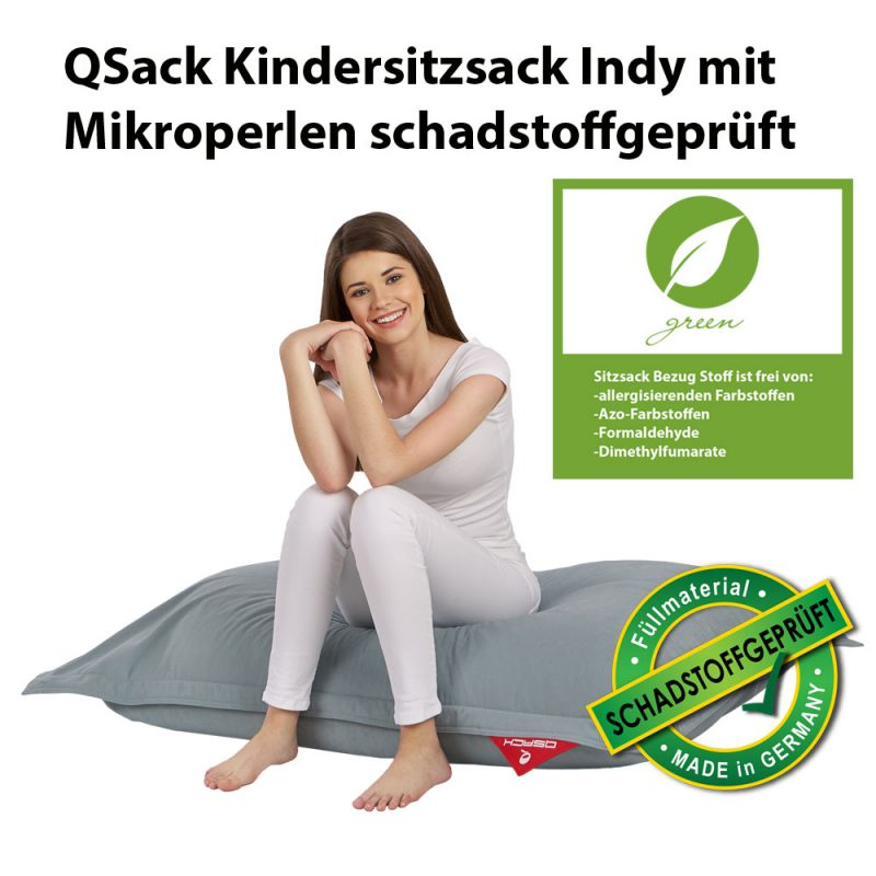 QSack Kindersitzsack Indy Mikroperlen schadstoffgeprüft