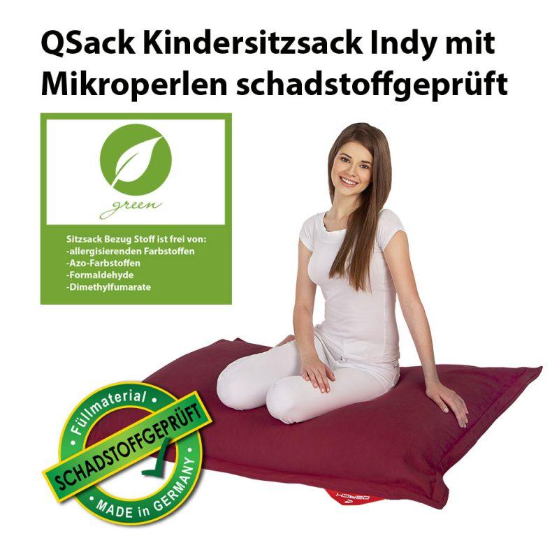 QSack Kindersitzsack Indy schadstoffgeprüft rot