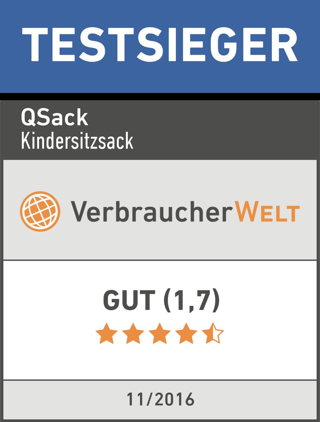 QSack Kinder Sitzsack Testsieger