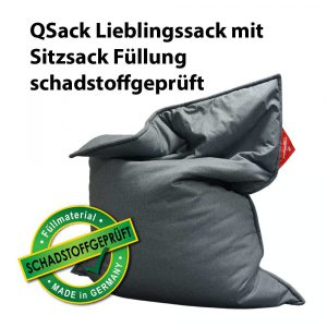 QSack Lieblingssack Sitzsack schadstoffgeprüft
