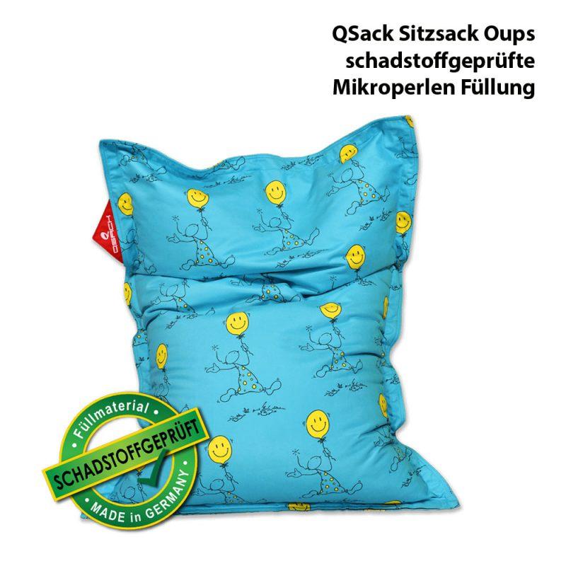 QSack Oups Kindersitzsack EPS Sitzsack Füllung schadstoffgeprüft