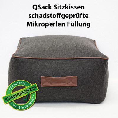 QSack Sitzkissen Pouf eckig Mikroperlen EPS schadstoffgeprüft