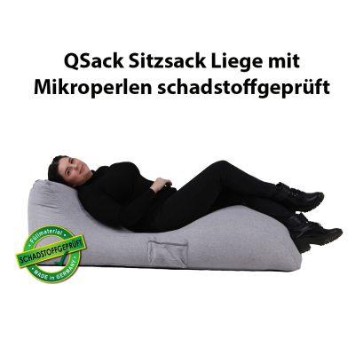 QSack Sitzsack Liege EPS schadstoffgeprüft