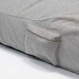 QSack Indoor Sitzsack Liege Seitentasche mit Reißverschluss