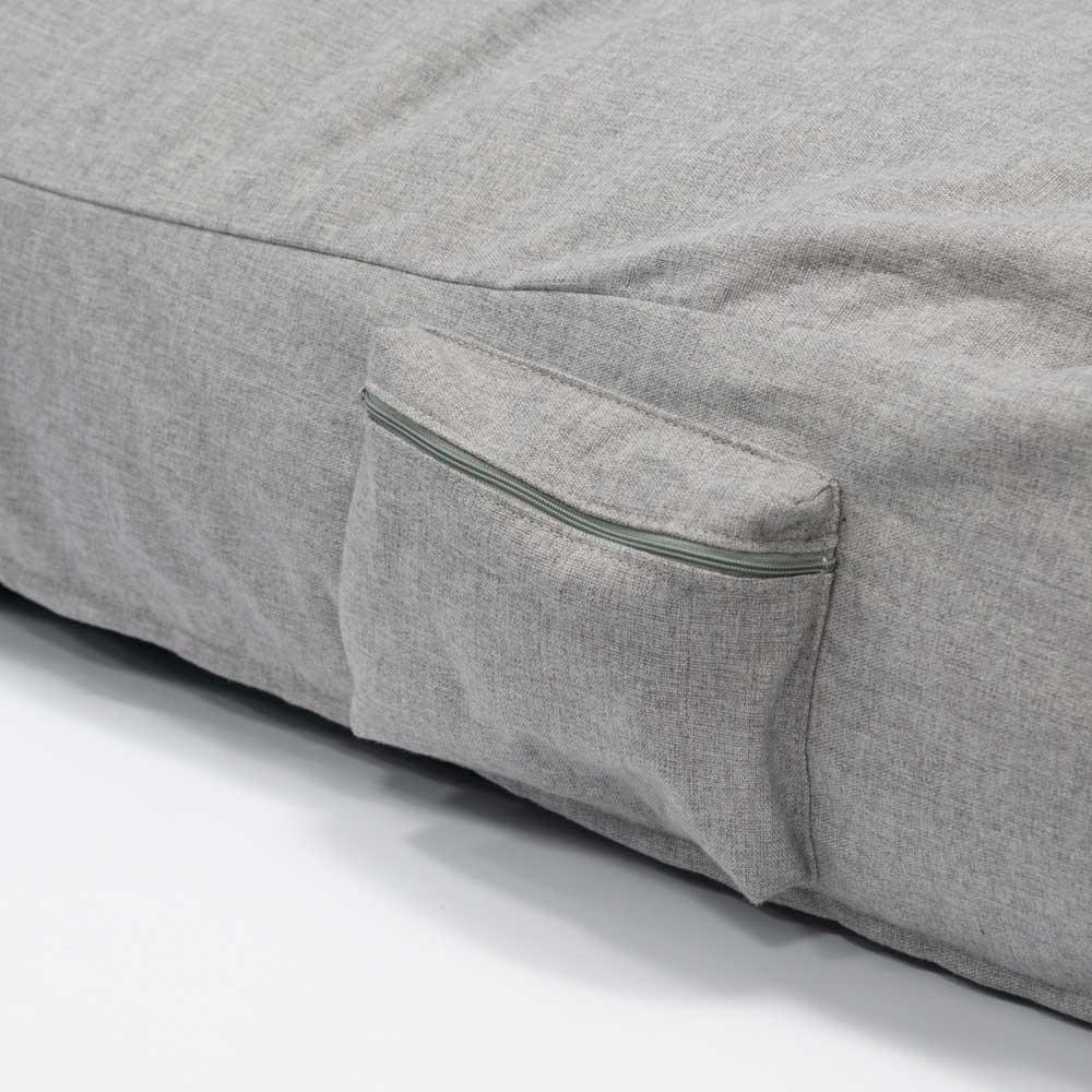 QSack Sitzsack Liege Seitentasche mit Reißverschluss