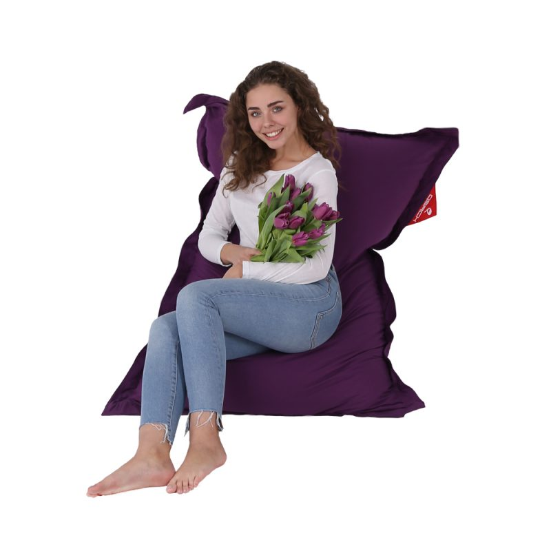 QSack Traum Kinder Sitzsack Baumwolle violett