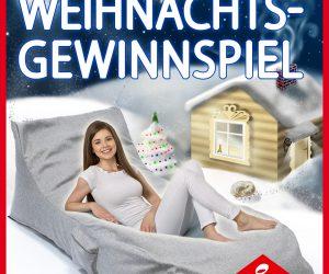Univok Weihnachtsgewinnspiel 2018 QSack Liege Sitzsack gewinnen