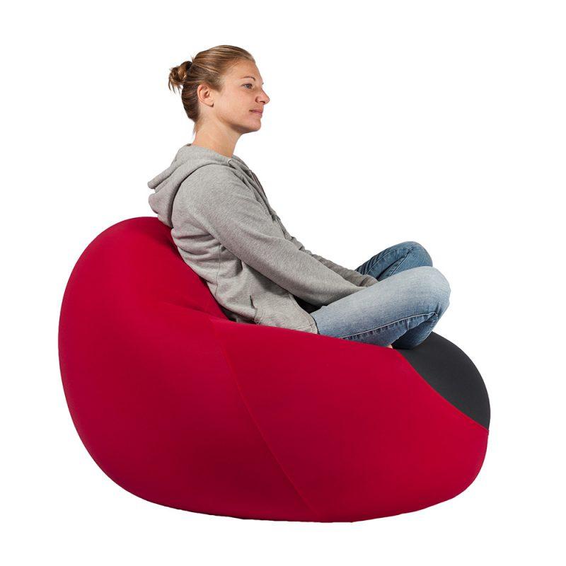 X-Drop Indoor Sitzsack bordeaux