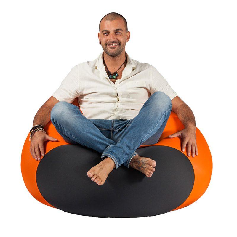 X-Drop Indoor Sitzsack orange XPouf
