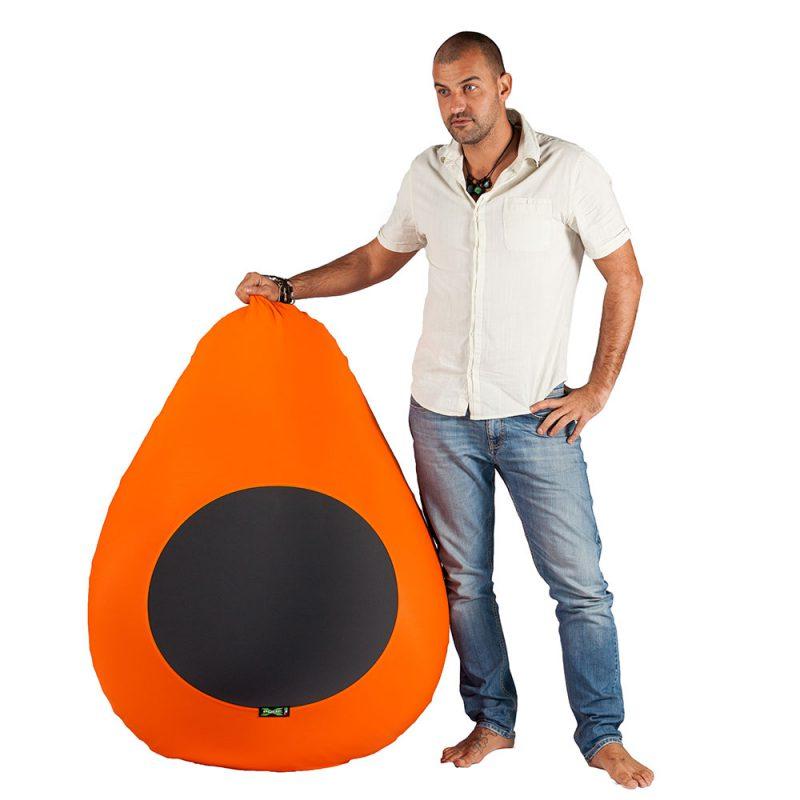 X-Drop Indoor Sitzsack orange