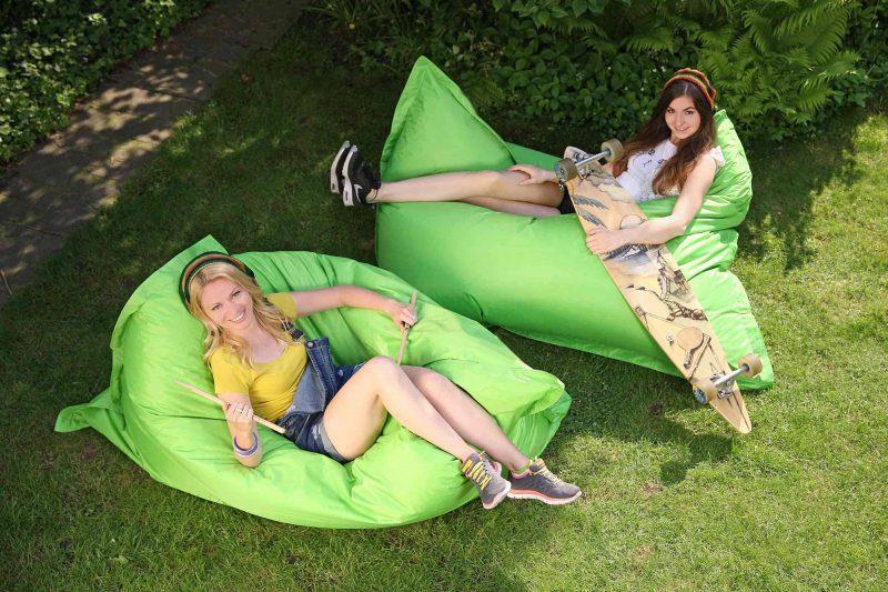 grüner Sitzsack Outdoor