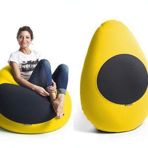 X-Drop Indoor Sitzsack gelb